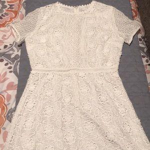 Sweet Lace White LOFT Dress